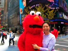 Joy and Elmo in NY