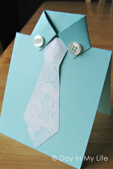 Открытка из бумаги своими руками для папы