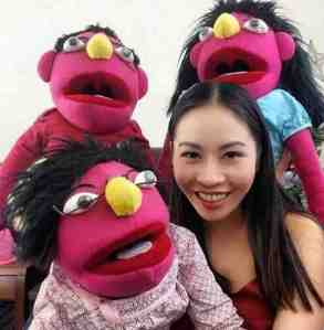 Erica Long and puppets sml